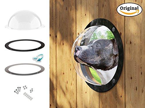Lucky Lamb ® Gardenscout - Das Zaun Fenster ins Freie für Hund Katze oder andere Haustiere. EIN...