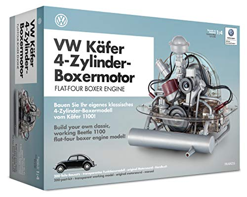 Franzis VWFF020 Käfer-Motor transparentes Funktionsmodell des 4-Zylinder-Boxermotors, Transparant