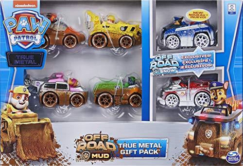 PAW Patrol True Metal Geschenkset mit sechs Metall - Fahrzeugen - Offroad Mud Version