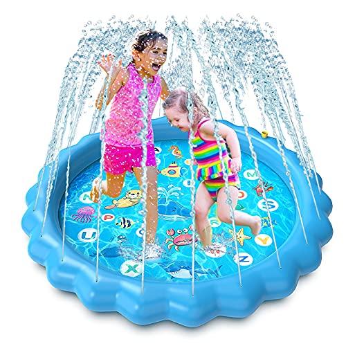 Luchild Splash Pad Wasserspielzeug Spielmatte Outdoor Garten Splash Spielmatte für Kinder Party...