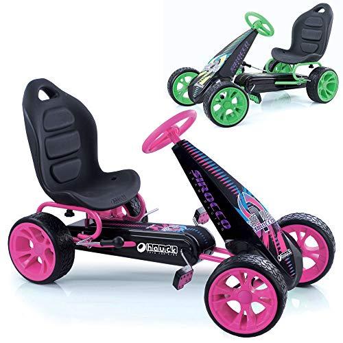 Hauck Go-Kart Sirocco für Kinder von 4-12 Jahren , Tretauto mit automatischer Freilaufschaltung ,...