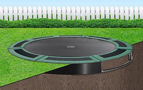 Flatground trampolin Capital Play 427 Grün Bodentrampolin