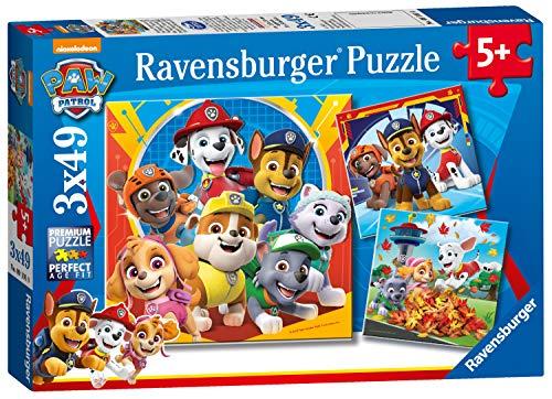 Ravensburger 5048 Paw Patrol 3 x 49 Teile Puzzle für Kinder ab 5 Jahren, 0