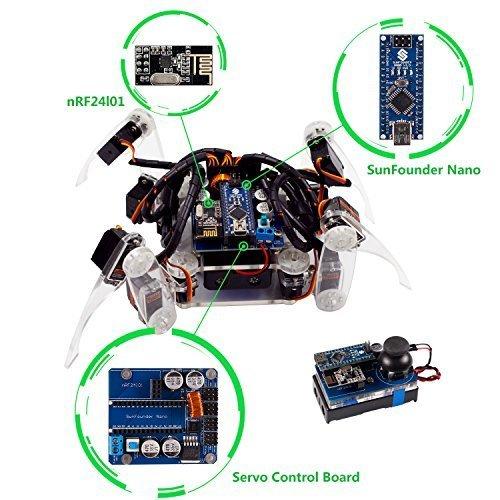 Krabbelnder Roboter - Bausatz von SunFounder