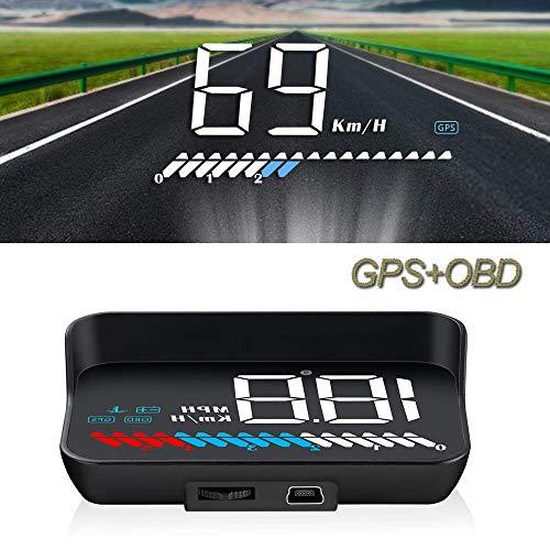 Auto Head Up Display, HUD OBD2 GPS HUD Display, iKiKin 3,5 Zoll Head up Display, Geschwindigkeitsmesser...