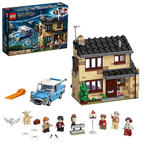 LEGO 75968 Harry Potter Ligusterweg 4, Spielzeug-Haus mit Ford Anglia sowie Minifiguren von Dobby und...