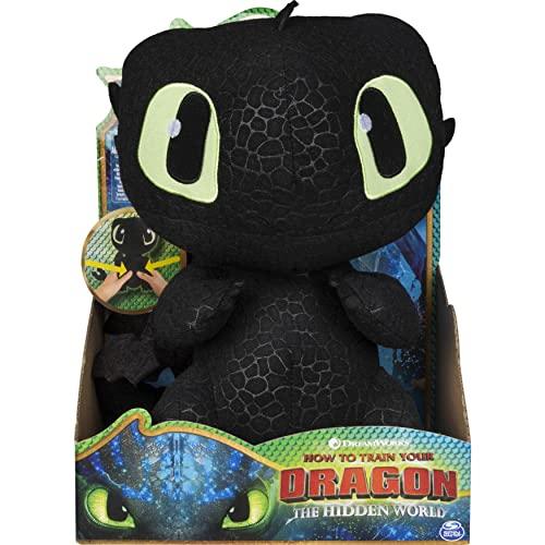 Dragons - Movie Line - Squeeze & Growl, Plüschfigur mit Sound - Ohnezahn (Solid), Drachenzähmen leicht...