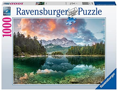 Ravensburger Puzzle 1000 Teile - Zugspitze am Eibsee - Puzzle für Erwachsene und Kinder ab 14 Jahren,...