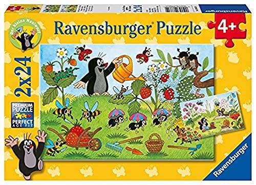 Ravensburger Kinderpuzzle - 08861 Der Maulwurf im Garten - Puzzle für Kinder ab 4 Jahren, mit 2x24...