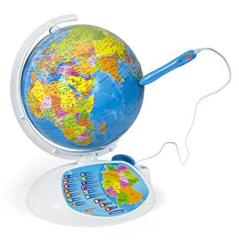 Clementoni 69492 Galileo Science – Interaktiver Globus mit App, sprechende Weltkugel mit Fragen &...
