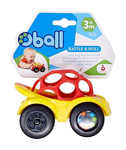 Oball, Spielzeugauto mit Rassel, 1 Stück, Farblich sortiert