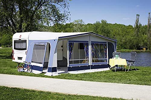 dwt Vorzelt Fiesta 300 tief blau Reisezelt Camping Wohnwagenvorzelt Ganzzelt Caravan leicht 6 mögliche...
