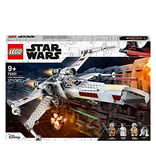 LEGO 75301 Star Wars Luke Skywalkers X-Wing Fighter Spielzeug mit Prinzessin Leia und Droide R2-D2 als...