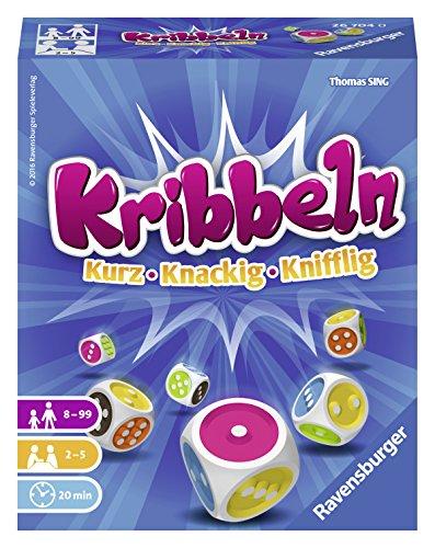 Ravensburger 26704 - Kribbeln, kniffliges Würfelspiel für 2-5 Spieler, Mitbringspiel ab 8 Jahren, die...