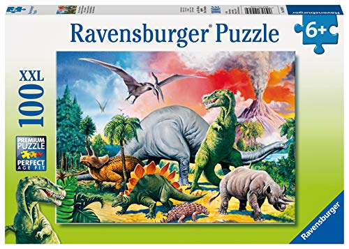 Ravensburger Kinderpuzzle - 10957 Unter Dinosauriern - Dino-Puzzle für Kinder ab 6 Jahren, mit 100...