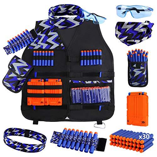 UWANTME Taktische Weste Jacke Set für Nerf Guns N-Strike Elite Serie Tactical Vest Kit Nerf Zubehör Set...