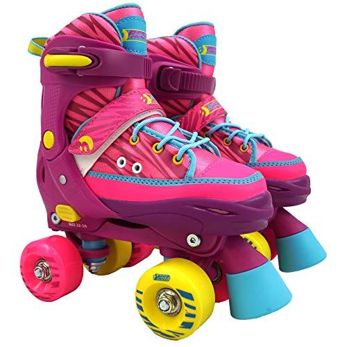 Best Sporting Rollschuhe für Kinder ab 5 Jahren, Größe verstellbar, ABEC 7 Carbon, Farbe:...