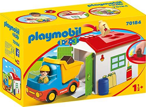 Playmobil 70184 1.2.3 LKW mit Sortiergarage, bunt