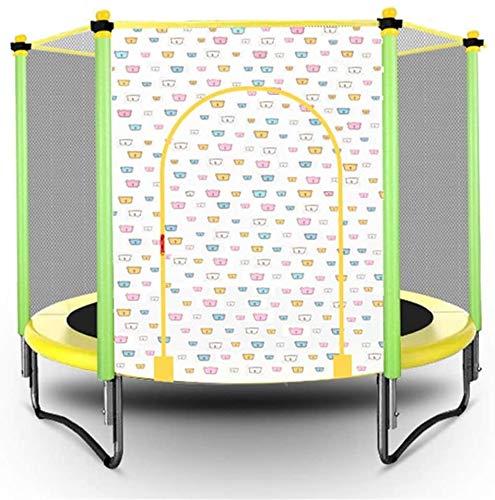 Mopoq Faltbare Kinder Trampolin Indoor und Outdoor-Mini-Trampolin Bungee Jumping mit Schutznetz Trampolin...