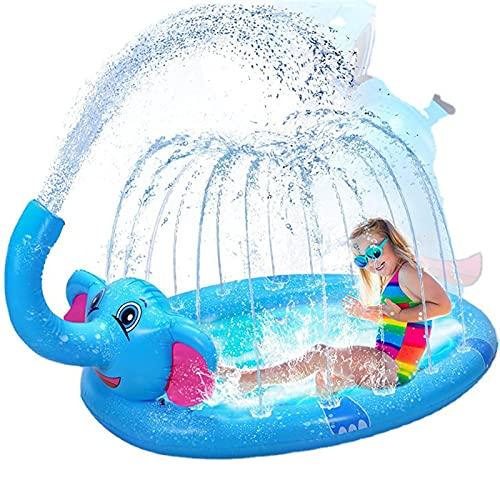 XJJY Elefant Aufblasbare Spielzentrum Sprinkler Pad Spray Wasser Spielzeug Für Kinder über 3 Jahre...