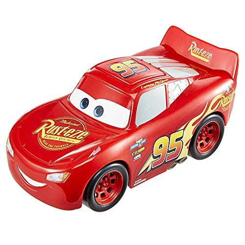 Disney Pixar Cars GXT29 - Track Talkers Lightning McQueen, 14cm großes Fahrzeug mit Geräuscheffekten,...