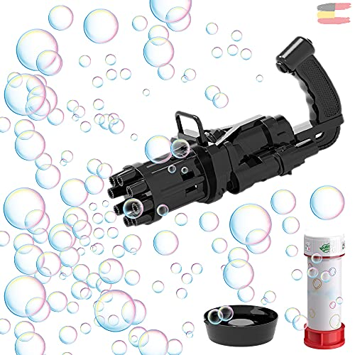 Gatling Bubble Gun Seifenblasenpistole TikTok Seifenblasenmaschine Bubble Blower Seifenblasen Spielzeug...