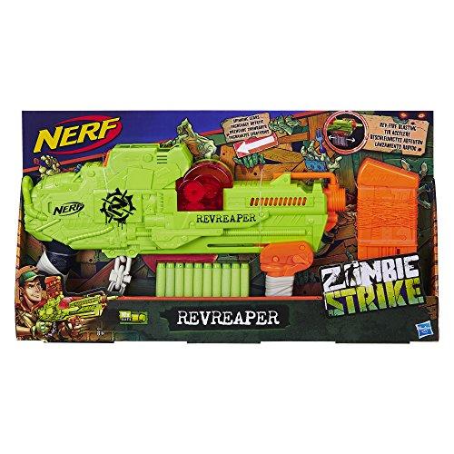 Hasbro Zombie Strike Revreaper, Spielzeugblaster mit sichtbarem Zahnrad-Mechanismus