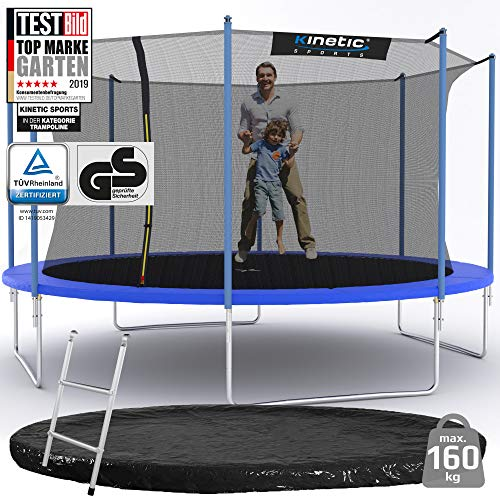 Kinetic Sports Outdoor Gartentrampolin Ø 425 cm, TPLS14, inklusive Sprungtuch aus USA PP-Mesh...