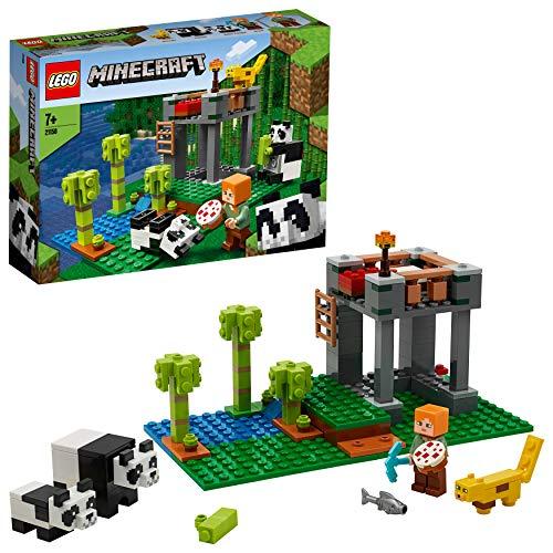 Lego 21158 Minecraft Der Panda-Kindergarten, Bauset mit Alex und Tierfiguren, Spielzeuge für Kinder ab 5...