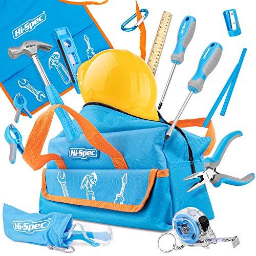 Hi-Spec 18-teiliges Kinder-Werkzeugset mit echten Handwerkzeugen, einschließlich Sicherheitbrille und...