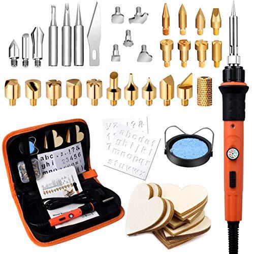 Brandmalerei Lötkolben Set, Preciva 45 PCS Brandmalerei Brandmalkolben Set Temperatur Einstellbar...