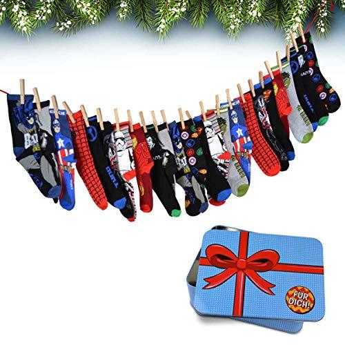MMMedia Adventskalender mit Socken Gr. 43-46 zum individuellen Befüllen