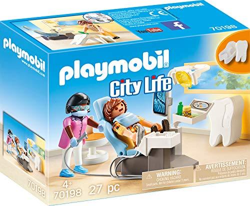 Playmobil 70198 City Life Beim Facharzt: Zahnarzt, ab 4 Jahren, bunt, one Size