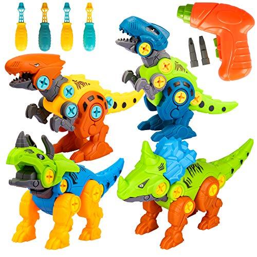 Spielzeug 3 4 5 6 Jahre Junge,Dinosaurier Spielzeug ab 3 4 5 6 Jahre Kinder Jungen Geschenke Bausteine...