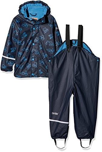CareTec Kinder wasserdichte Regenlatzhose und -jacke im Set (verschiedene Farben), Blau (Dark Navy 778),...