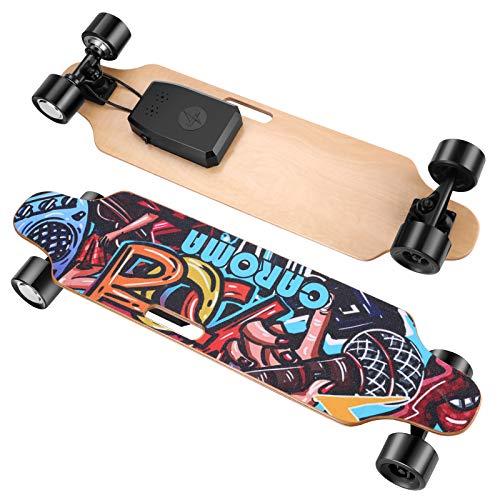 Caroma Elektrisches Skateboard mit ferngesteuertem 700-W-Longboard-Motor, Elektro Skateboard mit DREI...