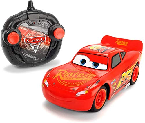Dickie Toys RC Cars 3 Turbo Racer Lightning McQueen, RC Fahrzeug, ferngesteuertes Auto, 1:24, 17cm