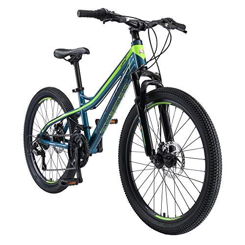 BIKESTAR Alu Mountainbike Jugendfahrrad 24 Zoll ab 9-14 Jahre Hardtail | 21 Gang Shimano Schaltung,...
