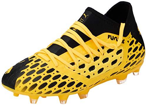 PUMA Unisex Future 5.3 Netfit Fg/ag Jr Botas de fútbol, Gelb (Ultra Yellow Black), 37 EU