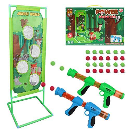DeeXop Schießspiel für Nerf Kinder Spielzeug Jungen 5 6 7 8 9 10+ Jahre alt, 2PK Foam Ball Popper Air...