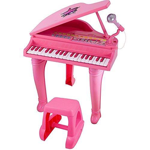 WinFun Kinderpiano Kinder Klavier Keyboard Spielzeug Flügel (rosa)