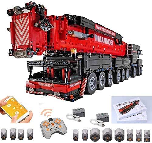 Foxcm Technik Kran LKW, Technik Mobiler Schwerlastkran, Groß MOC Bauset mit Fernbedienung und 12...