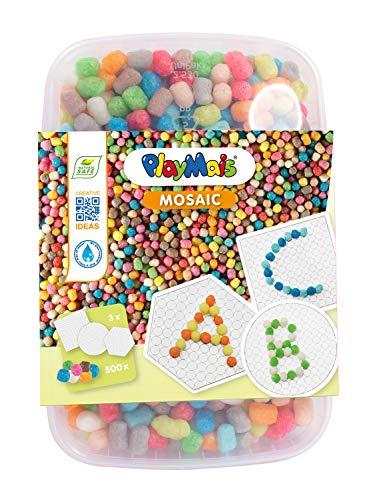PlayMais 160661 - Mosaic 500 ABC Bastelset, ca. 500 Teile