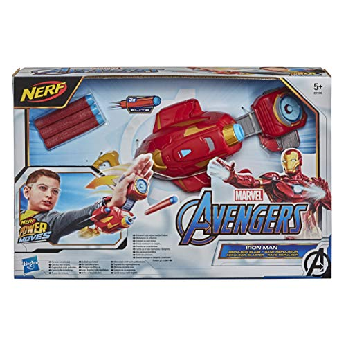 Hasbro E7376EU4 NERF Power Moves Marvel Avengers Iron Man Repulsor-Blaster, NERF Dart-Abschuss Spielzeug...