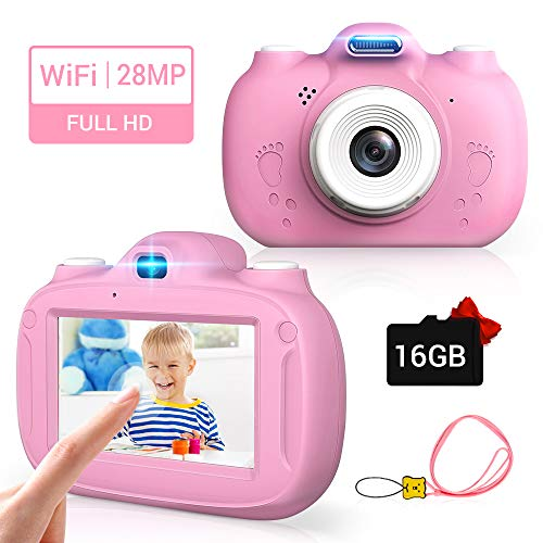 Kinderkamera, 28MP HD Video-Digitalkamera für Kinder, 3,0 Zoll IPS HD 1080P Touchscreen & Unterstützt...