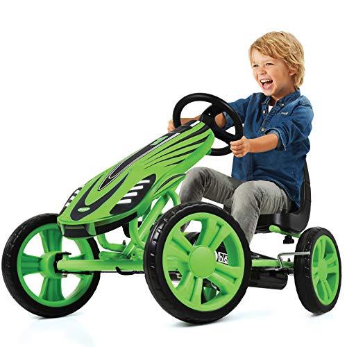 Hauck Toys For Kids GoKart Speedster - Pedal Go-Cart mit Handbremse und verstellbarem Sitz für Kinder ab...