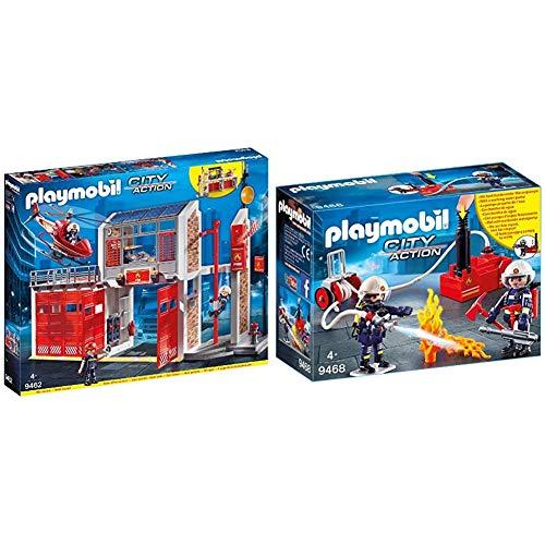 Playmobil 9462 - City Action Große Feuerwache mit Soundeffekten, Ab 4 Jahren & City Action 9468...