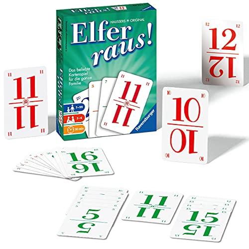 Ravensburger 20754 - Elfer raus Kartenspiel, Gesellschaftsspiel für 2-6 Spieler, Spiel ab 7 Jahren für...