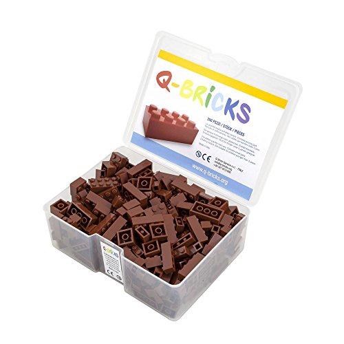 Q-Bricks Box 300Stck.Unicolor Bausteine in 5 Standardformaten: 2X4, 1X4, 2X2, 1X2 e 1X1 Noppen,...
