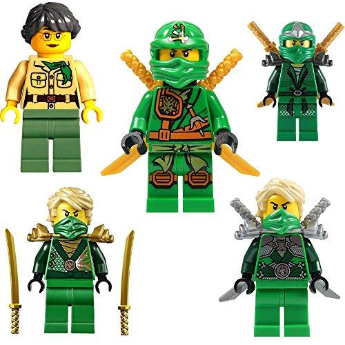 Ninjago Lego Minifiguren Set Lloyd 5 Verschiedene Figuren ( Lloyd Garmadon / Lloyd Silberne Rüstung /...